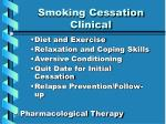 smoking cessation clinical smoking cessation clinical