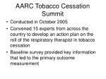 aarc tobacco cessation summit