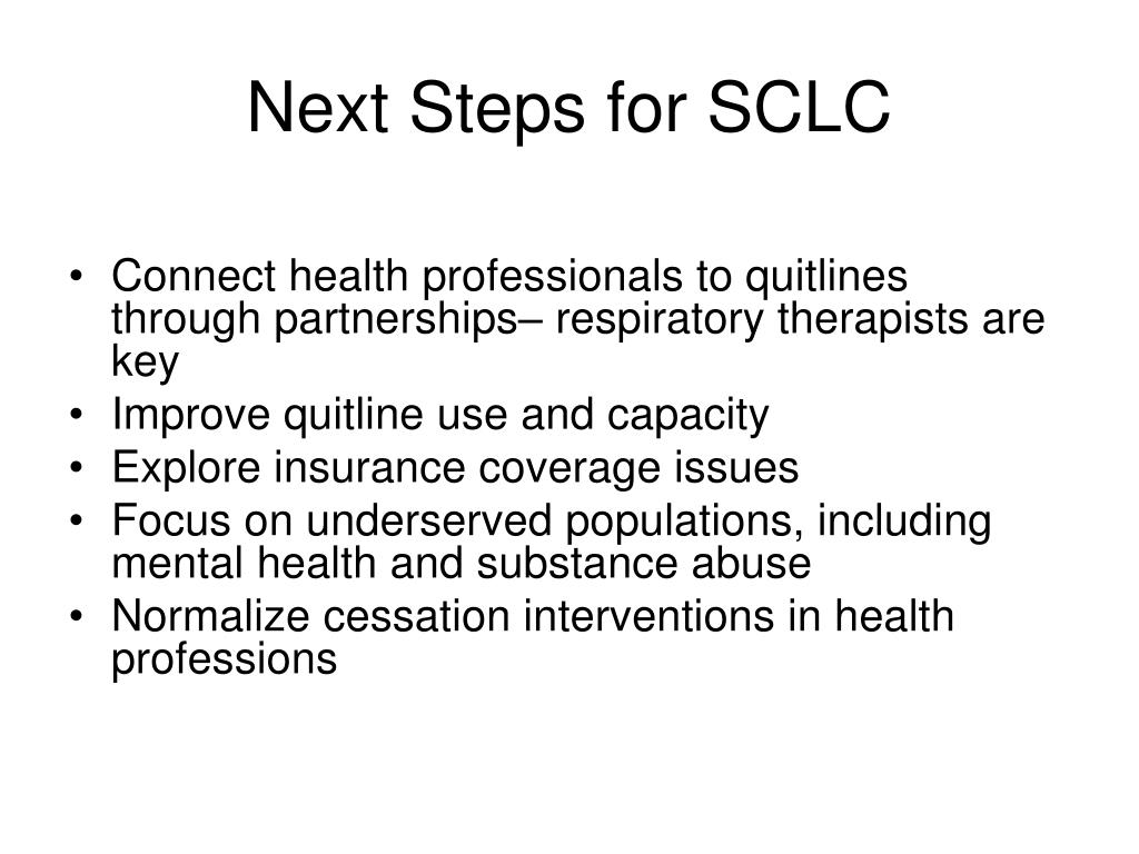 Next Steps for SCLC