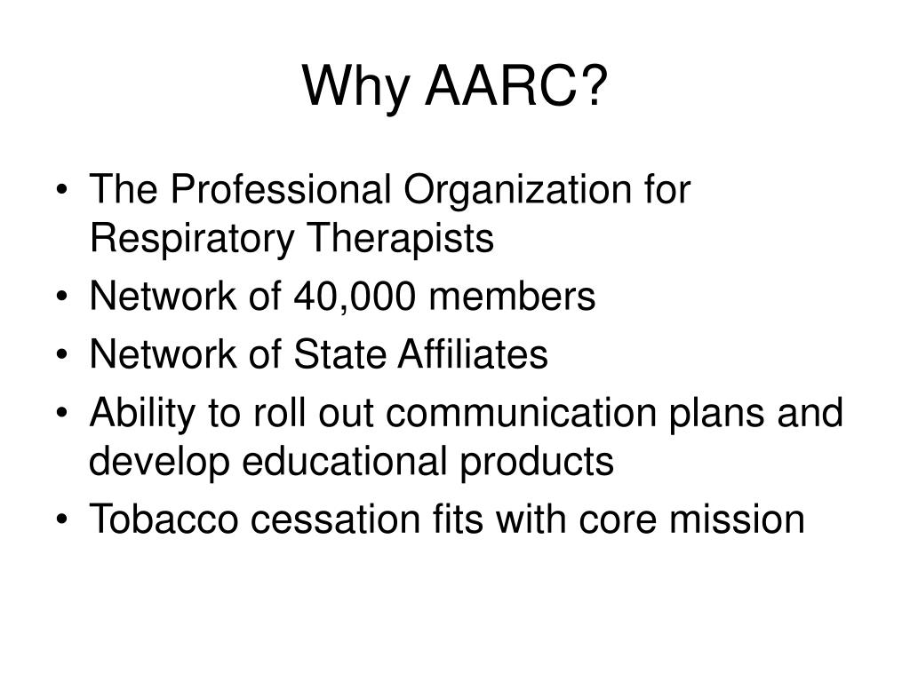 Why AARC?
