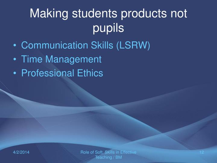 ppt developing soft skills for effective classroom