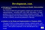 development cont