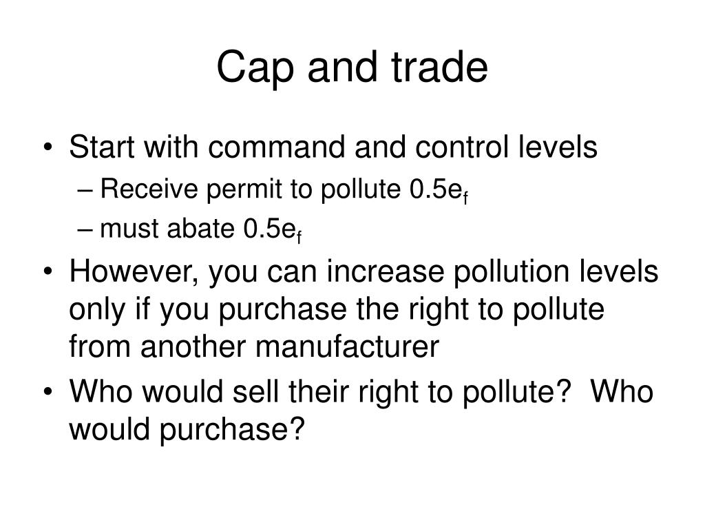 Cap and trade