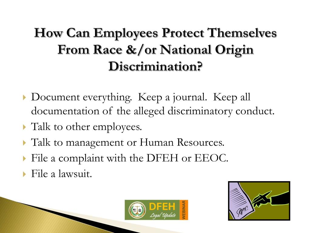 national origin discrimination National origin discrimination the office for civil rights (ocr) ensures that hhs-funded health care and human services providers follow federal laws prohibiting discrimination based on national origin ocr conducts investigations to determine whether policies or practices have an unequal impact on the people of a certain national origin(s.