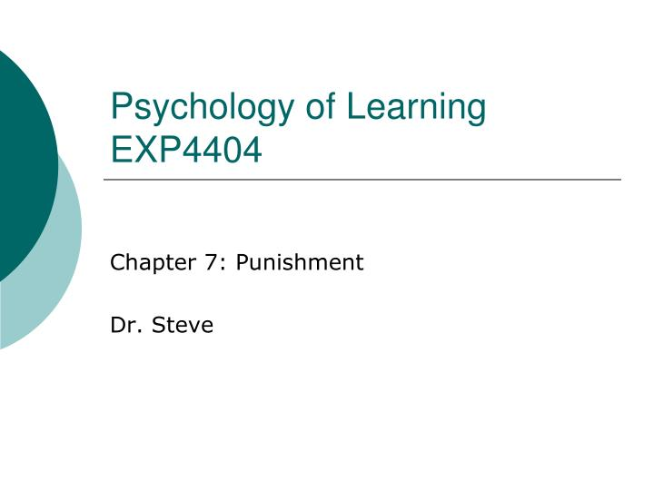 psychology of learning exp4404 n.