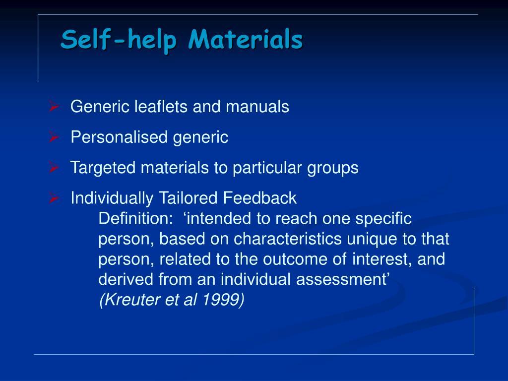 Self-help Materials