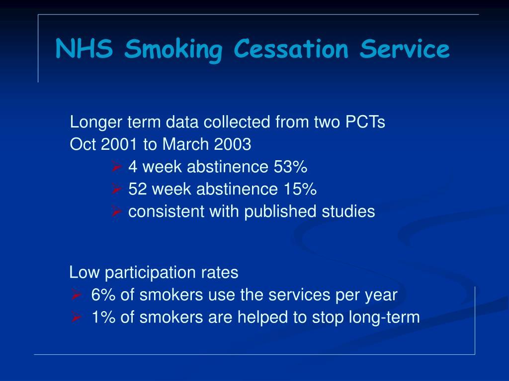 NHS Smoking Cessation Service