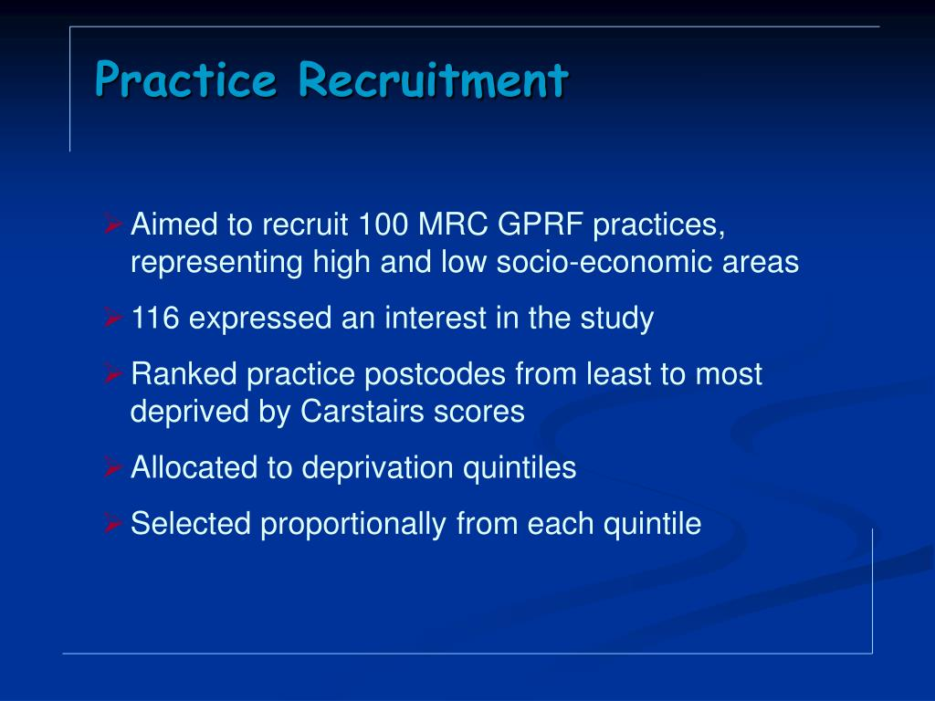 Practice Recruitment