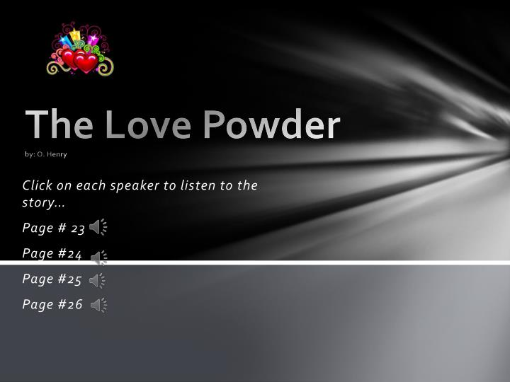 the love powder by o henry n.