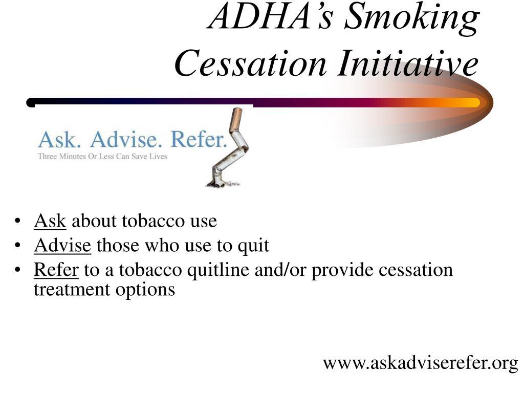 ADHA's Smoking Cessation Initiative