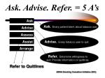 ask advise refer 5 a s