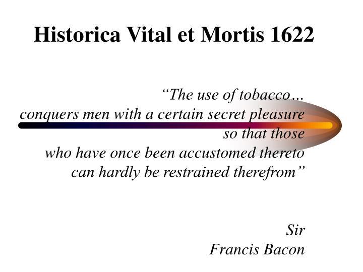 Historica vital et mortis 1622