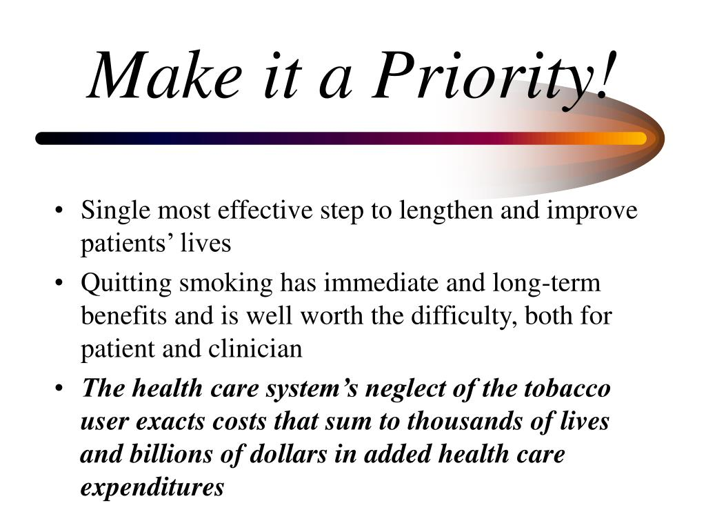 Make it a Priority!