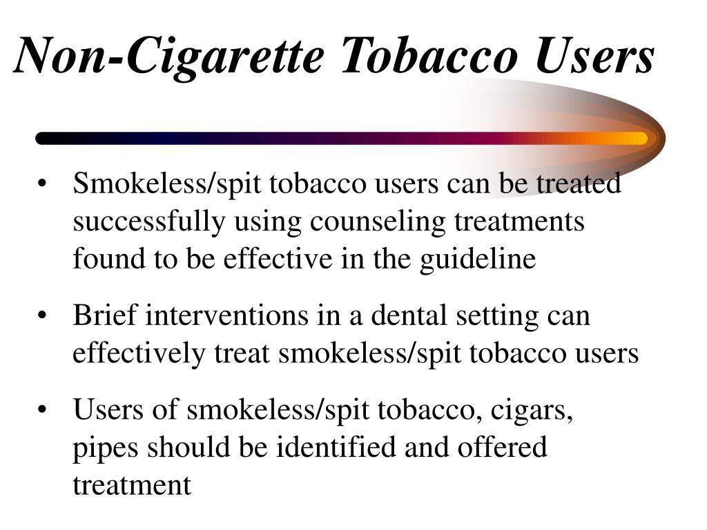 Non-Cigarette Tobacco Users