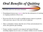 oral benefits of quitting