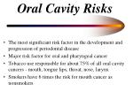 oral cavity risks