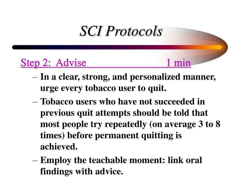 SCI Protocols