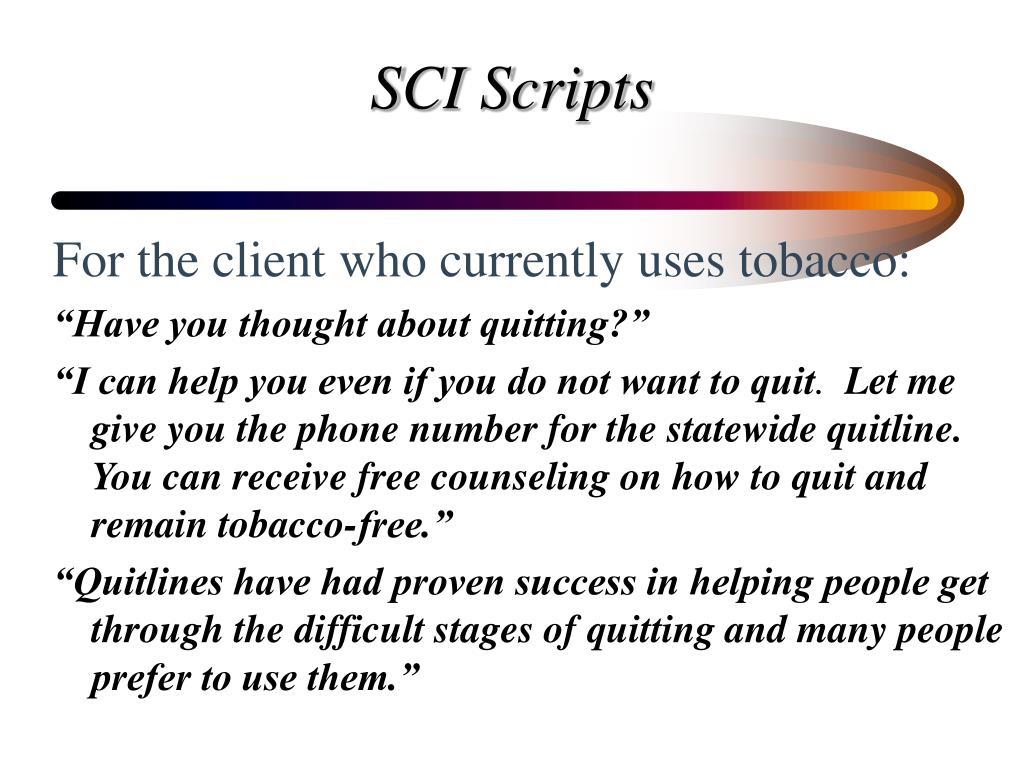 SCI Scripts