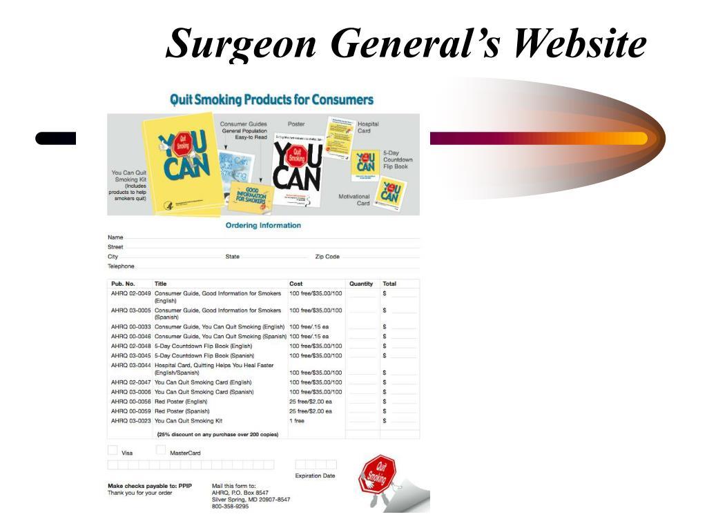 Surgeon General's Website