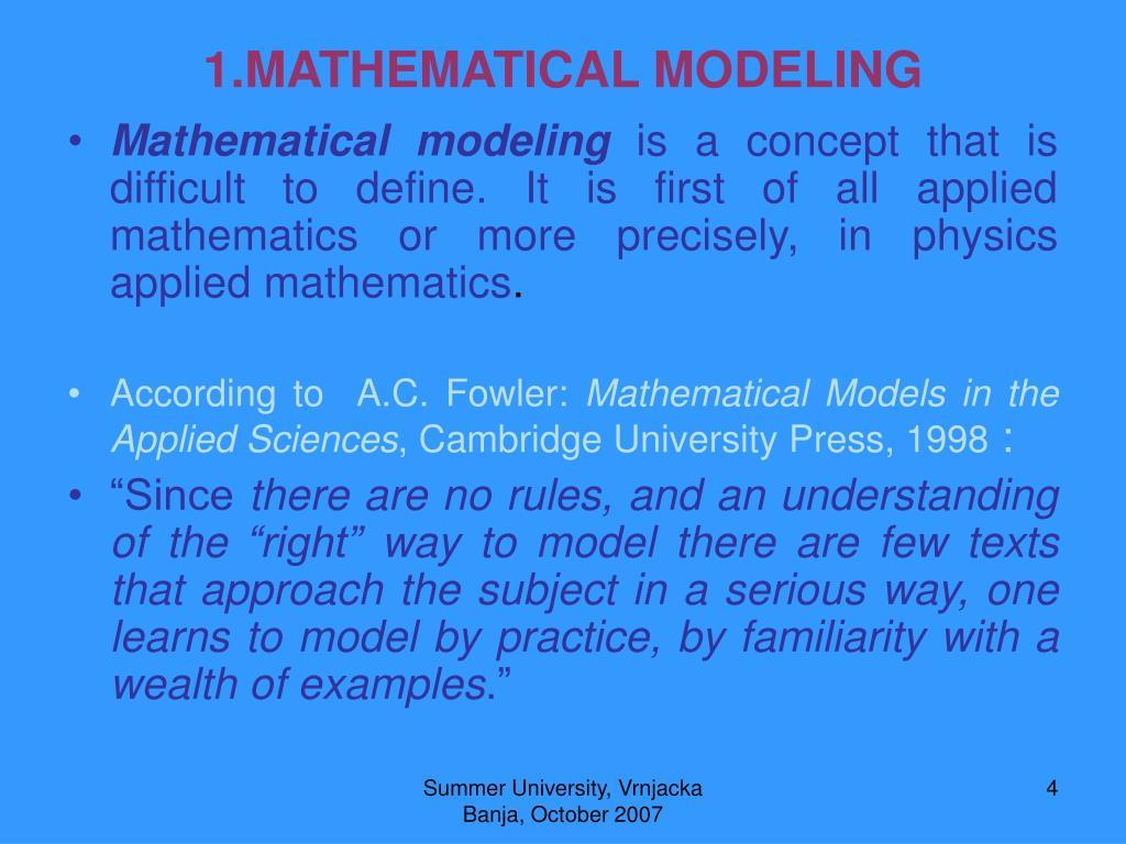 1.MATHEMATICAL MODELING