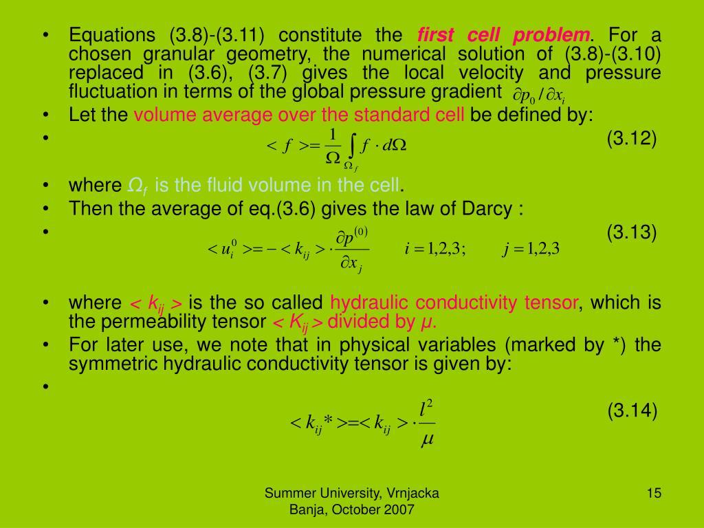 Equations (3.8)-(3.11) constitute the