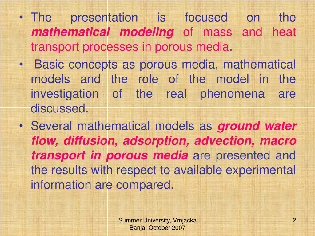 The presentation is focused on the