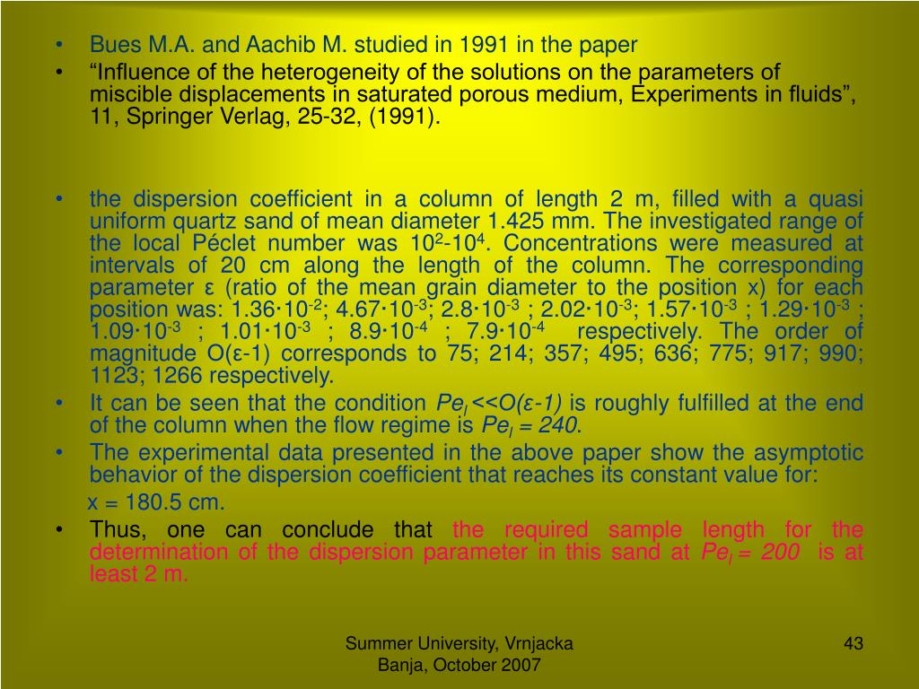 Bues M.A. and Aachib M. studied in 1991 in the paper