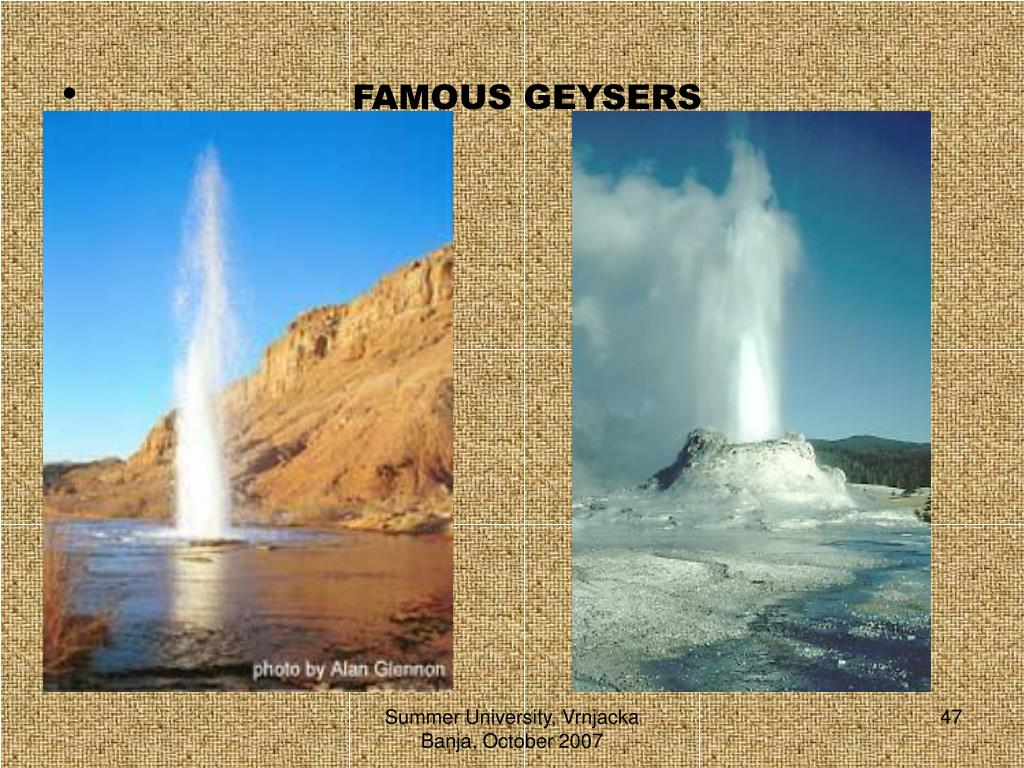 FAMOUS GEYSERS