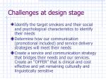 challenges at design stage