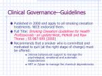 clinical governance guidelines