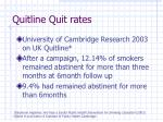 quitline quit rates