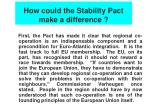 how could the stability pact make a difference