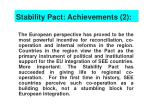 stability pact achievements 2