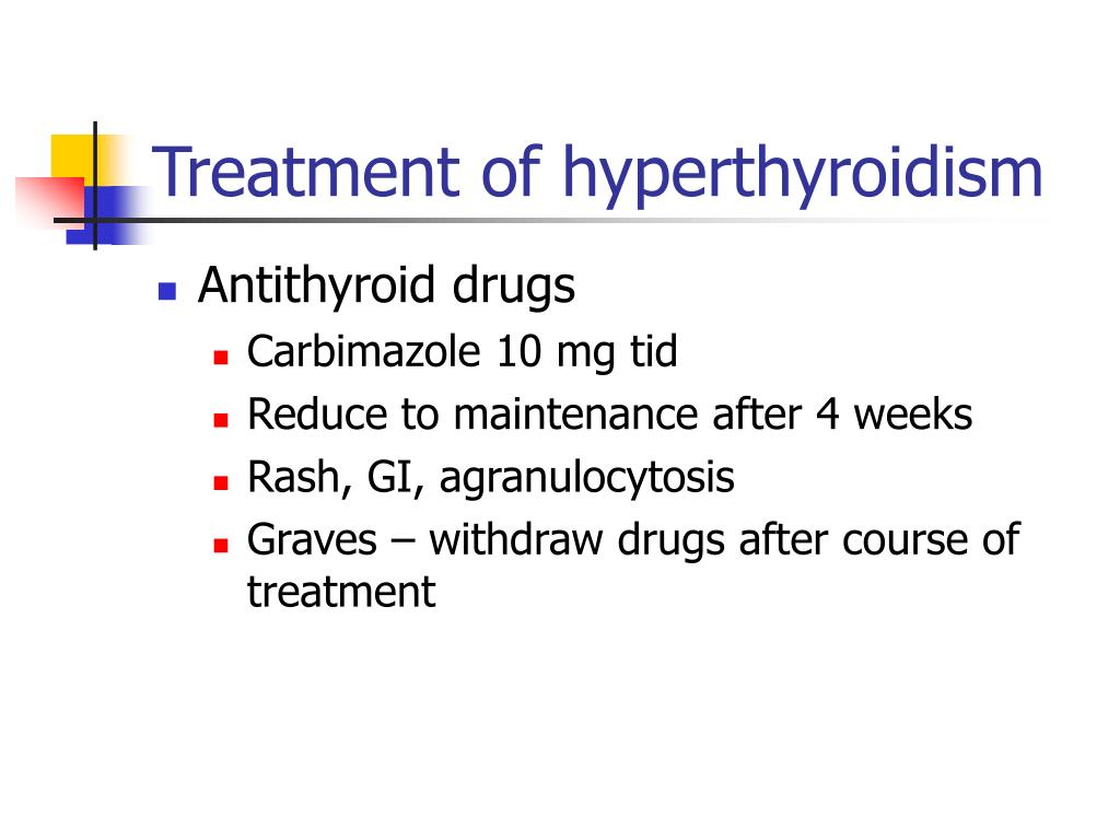 Treatment of hyperthyroidism
