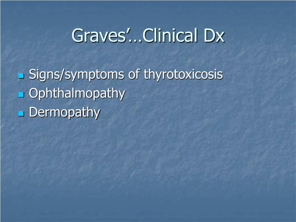 Graves'…Clinical Dx