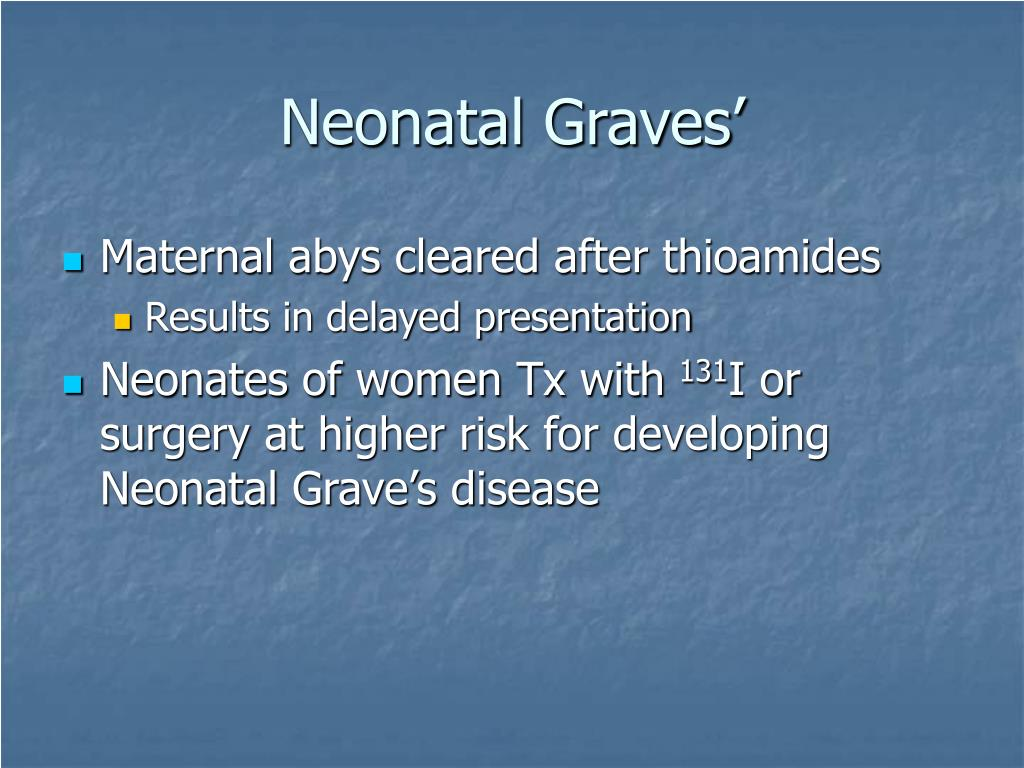 Neonatal Graves'