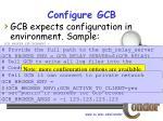 configure gcb18