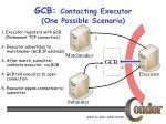 gcb contacting executor one possible scenario