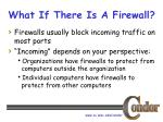 what if there is a firewall