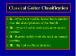 classical goiter classification