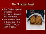 the shabbat meal