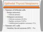epithelial thyroid neoplasms