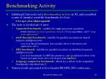 benchmarking activity