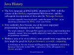 java history