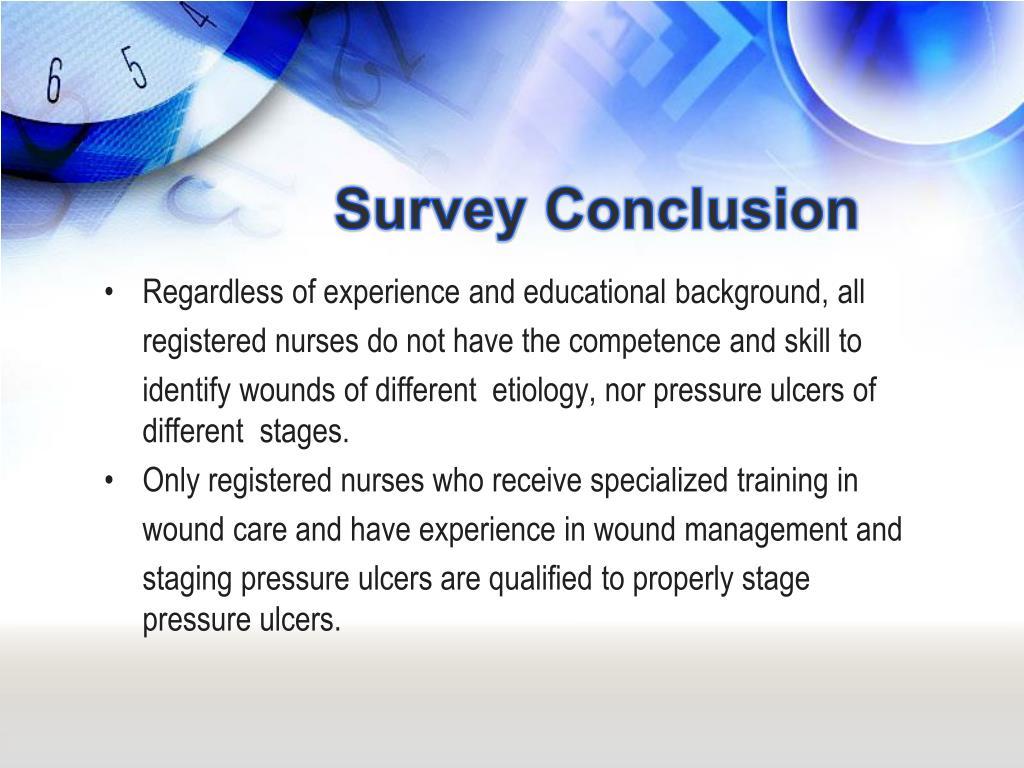 Survey Conclusion