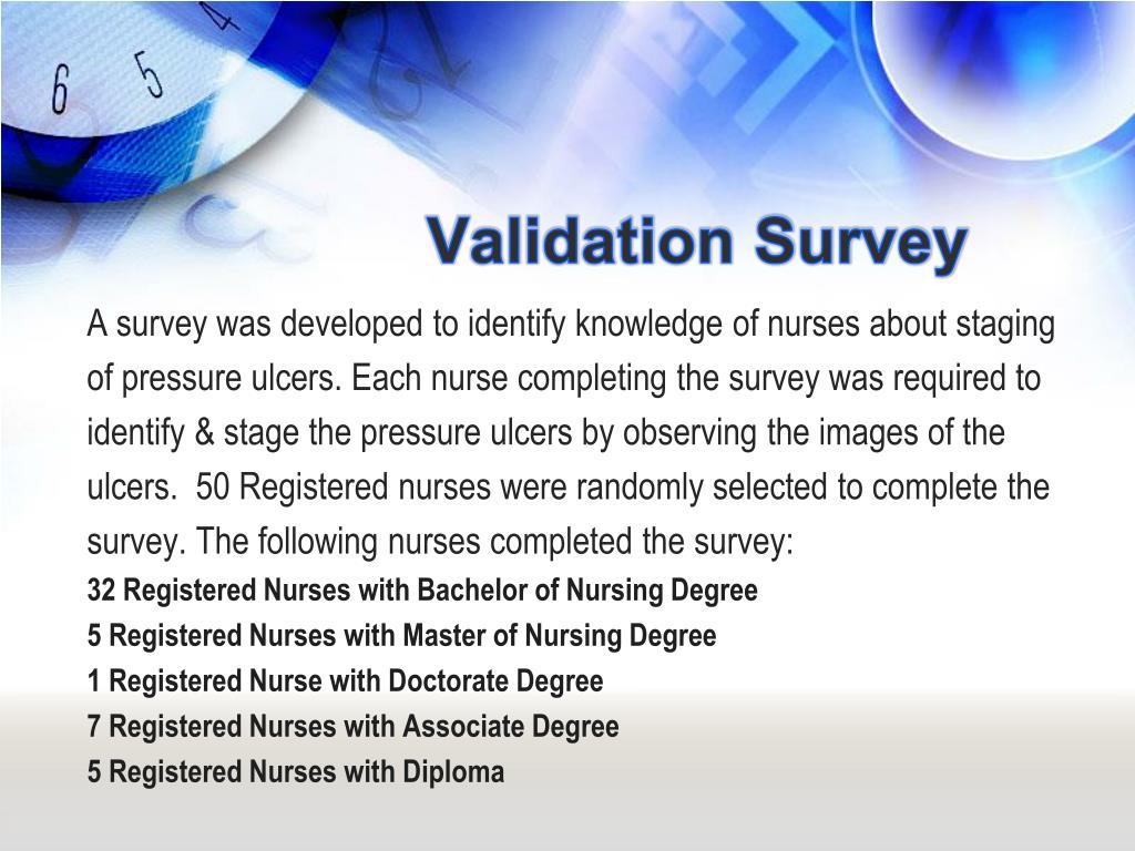 Validation Survey