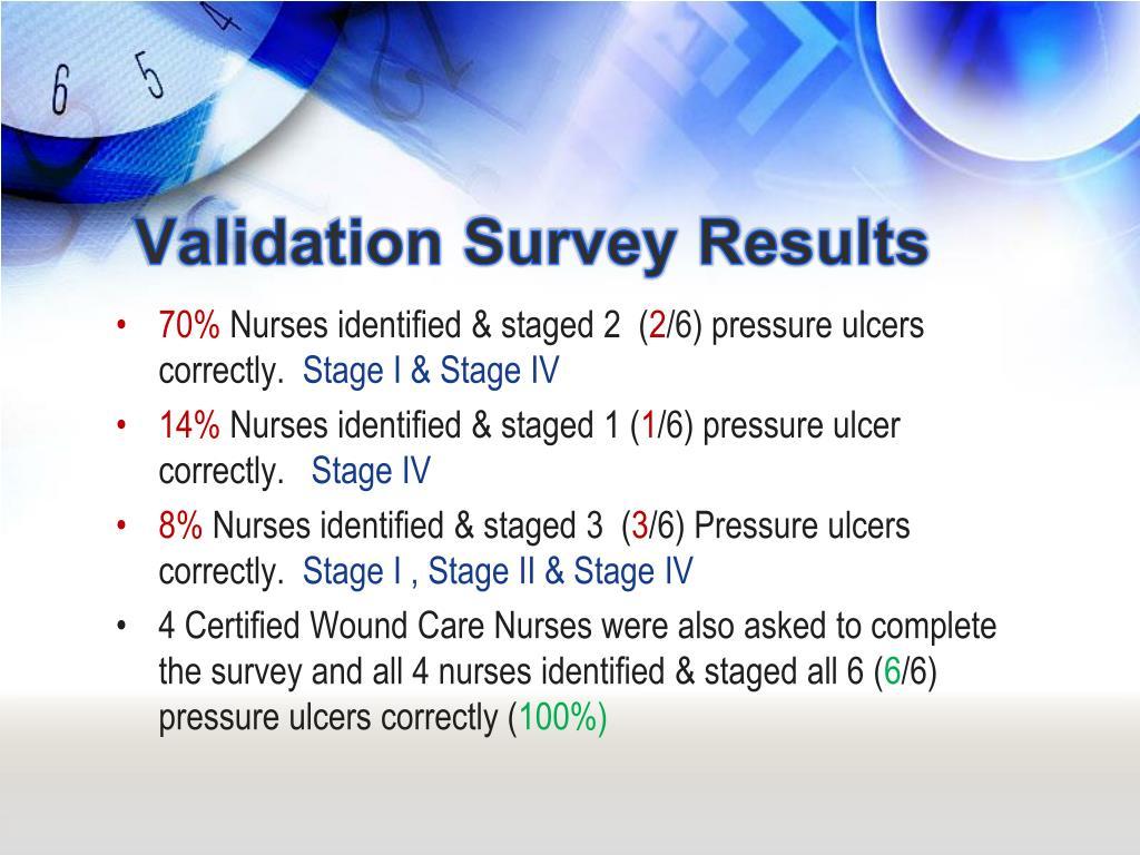 Validation Survey Results