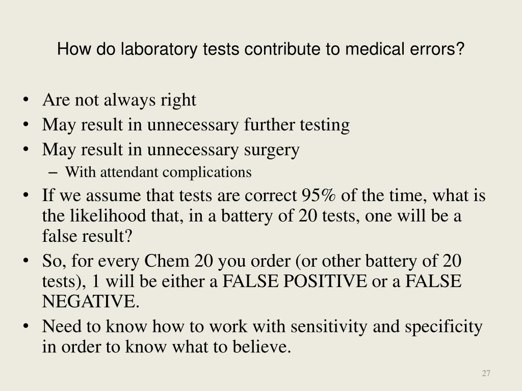 How do laboratory tests contribute to medical errors?