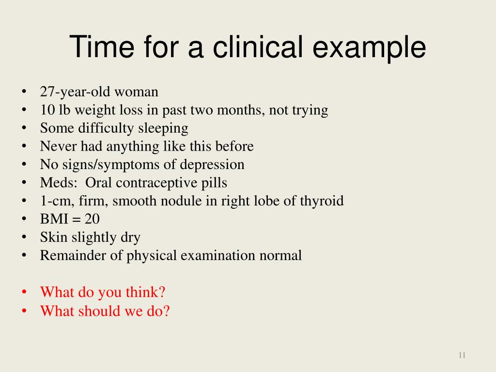 Time for a clinical example