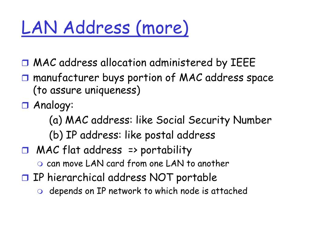 LAN Address (more)